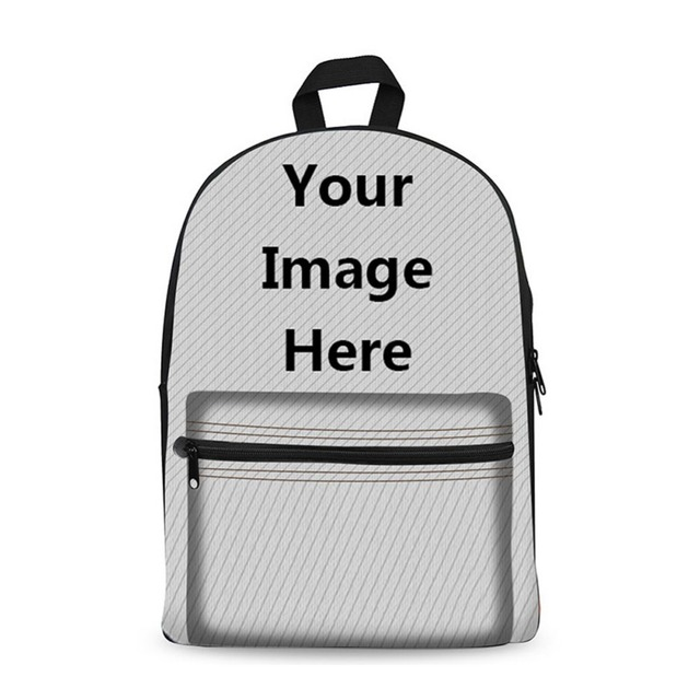 customize your own 17inch canvas school backpack boy girl primary