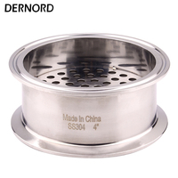 DERNORD Sanitary Filter Plate 4 Inch OD119 Tri clamp Stainless Steel 304 For Homebrew