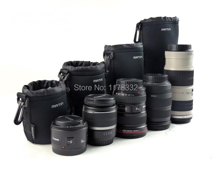 DSLR Camera Lens Bag Neoprene Soft Pouch Case Shoulder Strap For Canon For Nikon For Sony Size S/M/L/XL