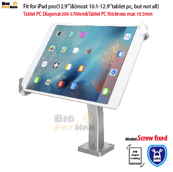 Universal tablet wall mounting holder anti-theft desktop mount bracket lock holder display stand for 10.1-12.9 iPad Samsung ASUS