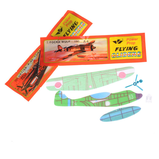 68429dc943 US $0.57 16% OFF|3Pcs Assembly Flapping Wing Flight For Children DIY Flying  Kite Paper Airplane Model Imitate Birds Aircraft Toys for Boy's Gift-in ...
