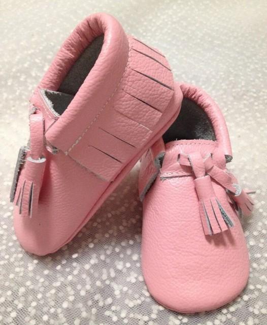 8 par/lote nuevo bebé mocasines moccs suaves zapatos de suela de cuero Genuino de la borla de bebé de los botines del niño/bebé zapatos de prewalker fringe