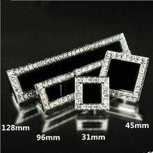 96mm 5″ modern fashion deluxe diamond furniture handle silver chrome black crystal cabinet drawer dresser handle knob pull 128MM