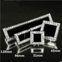 128MM Luxury Glass Crystal Diamond Handle Bronze Kichen Cabinet Wardrobe Door Pull Handle Silver Dresser Cupboard
