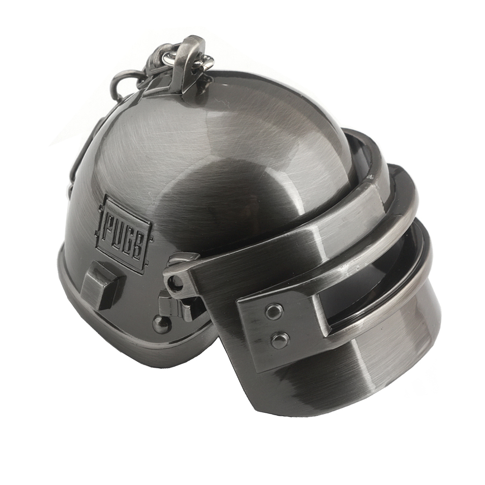 PUBG Black Gun Plated Special Corps Level 3 Helmet Keychain Playerunknown's Battlegrounds Can Opene&Closed Helmet Keyring