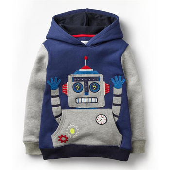 SLW Jumping Meters Boys Hoodies Robot Appliques Sweatshirts Baby Kids Long Sleeve Tops Cotton  Winter Clothes Clothing Boy Girl 1