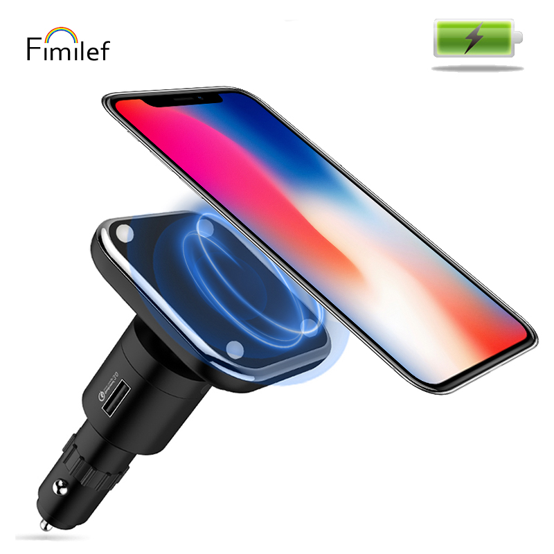 Fimilef QC3 Smart USB Cigarette Lighter Car Charger Universal Navigation Mobile Phone Magnetic Holder Stand Wireless ChargingFimilef QC3 Smart USB Cigarette Lighter Car Charger Universal Navigation Mobile Phone Magnetic Holder Stand Wireless Charging