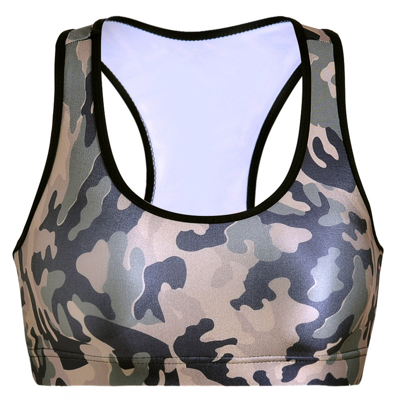 82f90579cfc87 Aliexpress.com   Buy Women Fitness Yoga Sports Bra For Running Gym Padded  New Camouflage Print Sport Brassiere Shakeproof Underwear Push Up Tank Tops  from ...