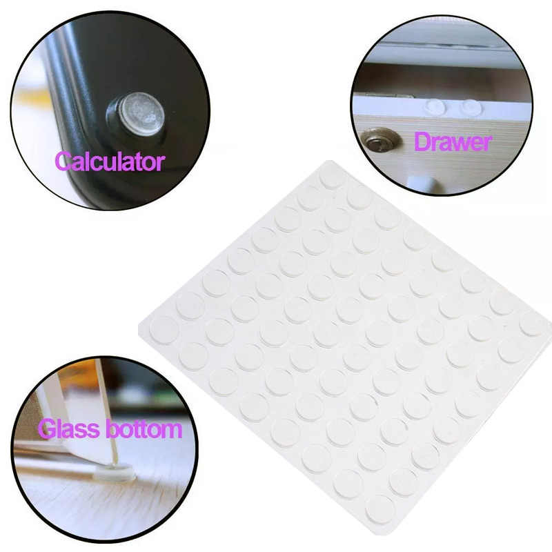 Цилиндрические силиконовые накладки на ножки ящика прозрачные самоклеящиеся универсальные мебельные ножки дверная Стопорная подушка
