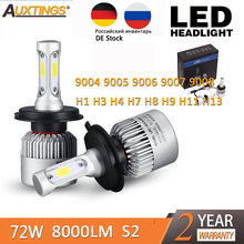 S2 H1 H4 H7 H13 H11 H8 H9 H1 9005 9006 H3 9004 9007 9008 LED Headlight 72W 8000LM Car LED Head Light Bulb Fog Light 6500K 12V(China)