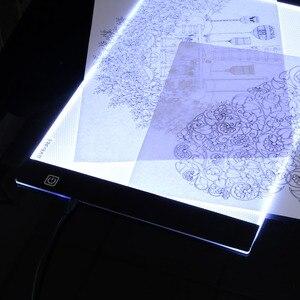 Image 3 - Светодиодсветодиодный электронная белая доска, А4 подсветка, планшет для рисования, планшет для рисования, блокнот для рисования, альбом для скетчинга, чистый холст для рисования акварелью, акриловой краской