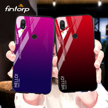 for Xiaomi Redmi Note 7 6 5 K20 Pro 6A 5 Plus Case Gradient Tempered Glass Cover for Xiaomi PocoPhone F1 Mi 9 9T 8 SE A2 Lite A1 for xiaomi redmi note 7 6 5 k20 pro 6a 5 plus case gradient tempered glass cover for xiaomi pocophone f1 mi 9 9t 8 se a2 lite a1