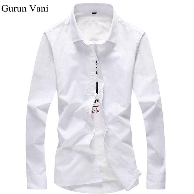 2017 Men Shirt Long Sleeve Slim Fit Solid Mens Dress Shirts Formal ...