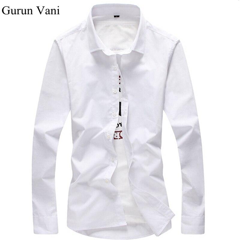 2018 Для мужчин рубашка с длинным рукавом Slim Fit Solid Мужская одежда сорочками конструкции Camisa социальной masculina Для мужчин Бизнес рубашка