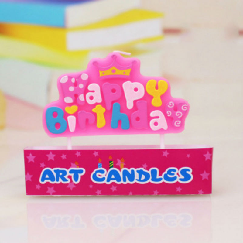 Wholesale Birthday Candles And Letters Of The Crown Candle Blue Pink Two Colors Optional Party Cake Decorations