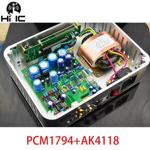 Image 1 - OPA2604 * 3 Audio Decoder DAC PCM1794 + AK4118 USB Koaxial/Optic Eingang ES9023 96 karat/XMOS 192 karat Mit Weichen Control Screen Display