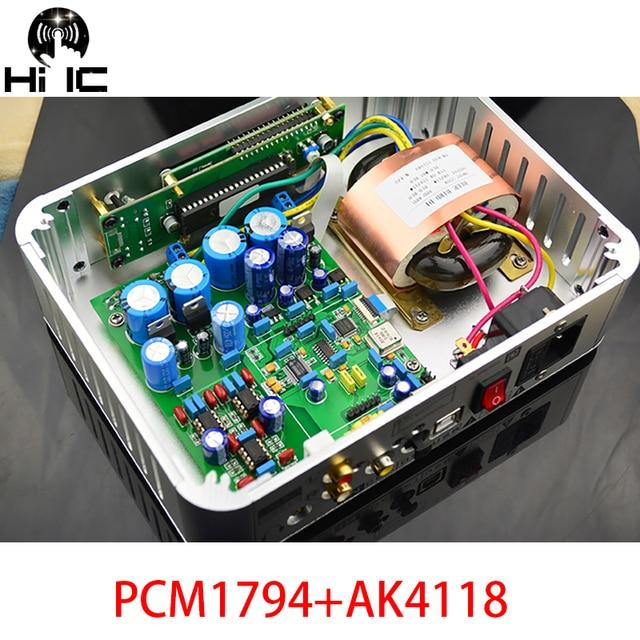 OPA2604 * 3 Audio Decoder DAC PCM1794 + AK4118 USB Koaxial/Optic Eingang ES9023 96 karat/XMOS 192 karat Mit Weichen Control Screen Display
