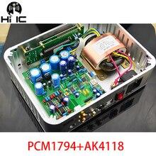 OPA2604 * 3 ถอดรหัส DAC PCM1794 + AK4118 USB Coaxial/Optic อินพุต ES9023 96 พัน/XMOS 192 พันนุ่มควบคุมหน้าจอ