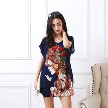 new 2018 T Shirt Dress Plus Size Women Printing mini dress short sleeve Loose Casual TEES Tops fashion elegant dresses 4xL 5XL