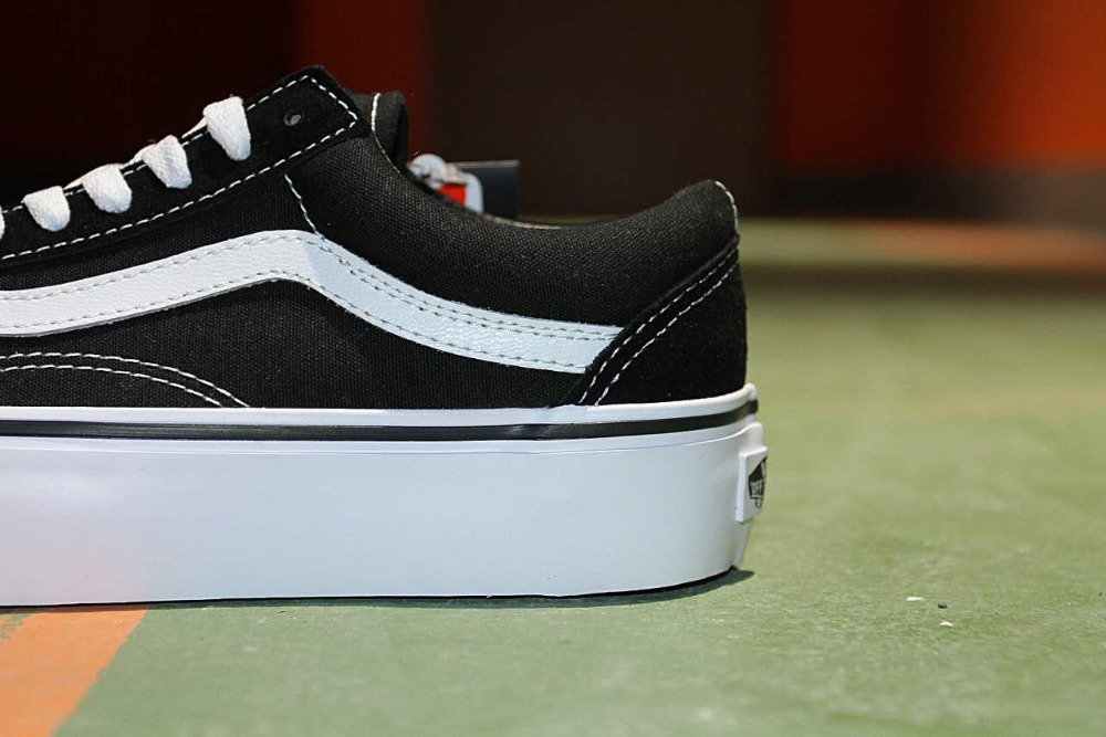 9dc4cd63e48 Free shipping vans authentic old skool platform women canvas shoes