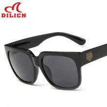 DILICN Moda Negro Retro Gafas de Sol Hombres Mujeres Marca de Lujo de Sol gafas UV400 Gafas de Sol de Verano Gafas de Sol Masculino Hombre