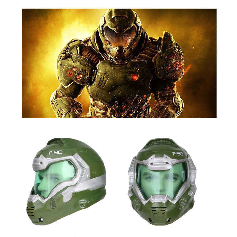 Xcoser Doom Doomguy Halloween Cosplay Helmet Resin Mask Costume