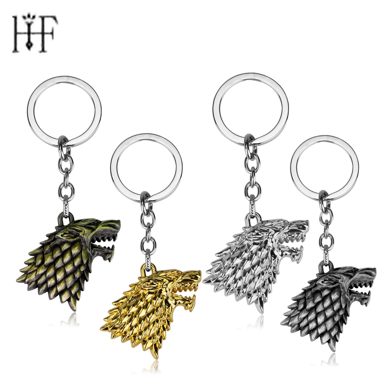 8 Game Of Thrones Bottle Opener Keychain House Stark Of Winterfell Winter Is Coming 5.2 Cm Metal Pendant Keyring Gray Skate Wolf