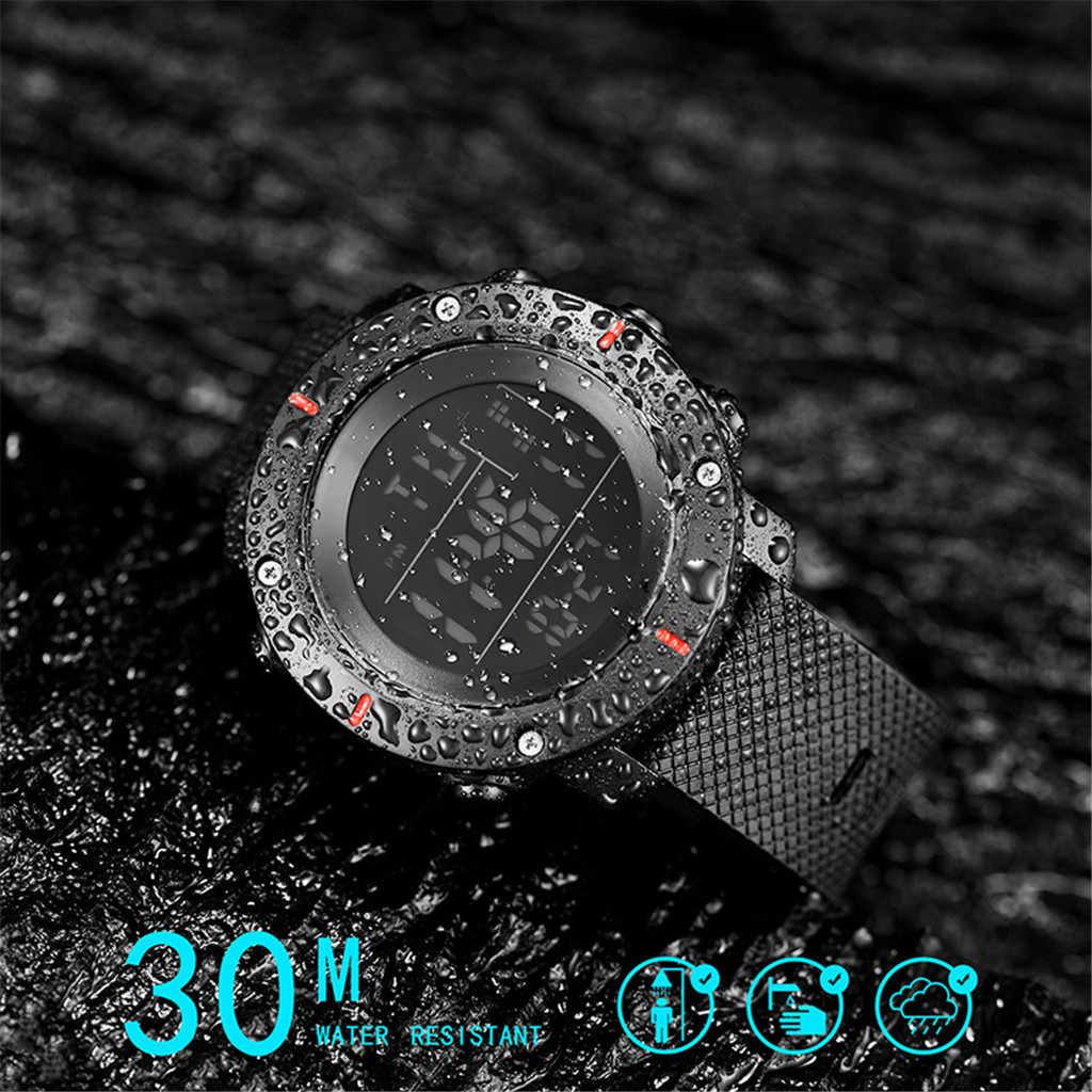 Fashion High-End Pria Jam Tangan 30M Tahan Air Elektronik LED Digital Watch Series Pria Model Outdoor Olahraga relojes Hombre Q