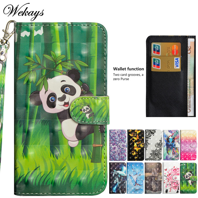 Wekays For Lenovo K6 Note Case Cartoon Panda 3D Leather Flip Fundas Case For Coque Lenovo Vibe K6 Note K53a48 Cover Cases K6Note