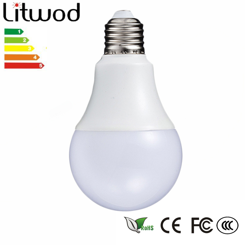 Litwod Z20 LED Bulb Lamp E27 220V -240V Gloeilamp Smart IC Real Power 3 -12 W Hoge Helderheid Ball bulb cool white & warm white