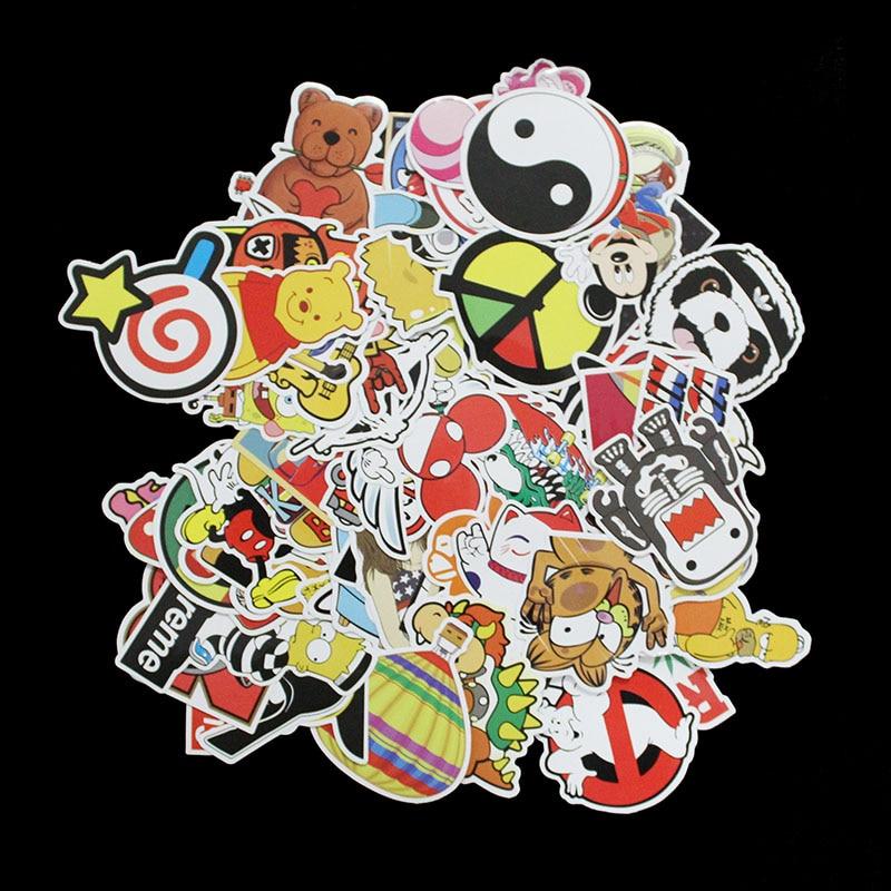 100 PCS Stickers F Style Funny Cartoon Vinyl Decal Car Stying Skateboard Luggage Fridge Laptop Home Decor Toys JDM Sticker