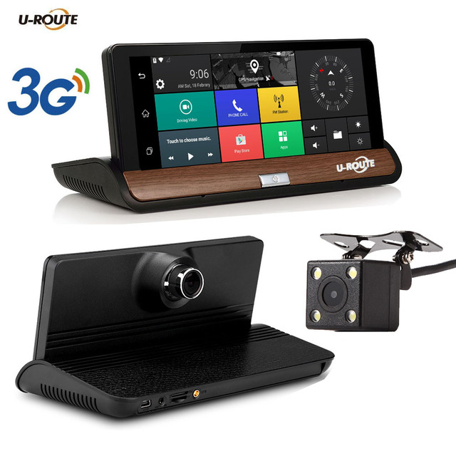 """Wifi Kamera Android >> New 7"""" IPS 3G Wifi Car DVR Camera Android 5.0 GPS Navigation Video Recorder Bluetooth Dual Lens ..."""