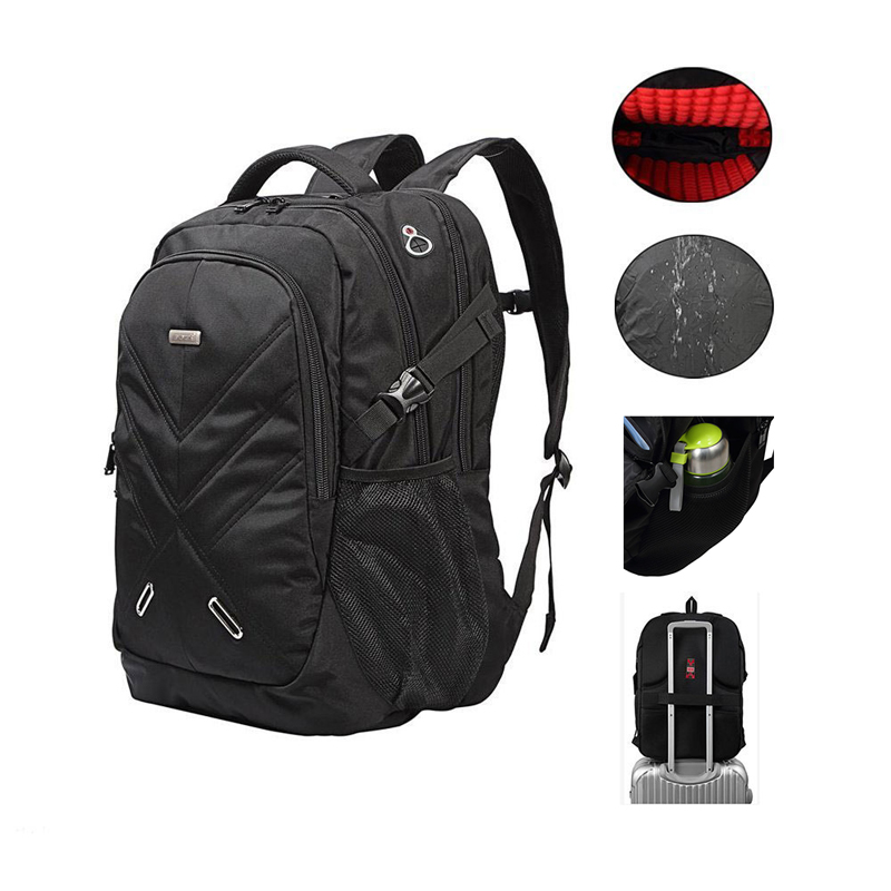 e0680b69d32a US $85.12 |15.6 18.4 Inch Business Laptop Backpack Water Resistant Travel  Backpack Shockproof Student School Bags with USB Charging Port-in Backpacks  ...