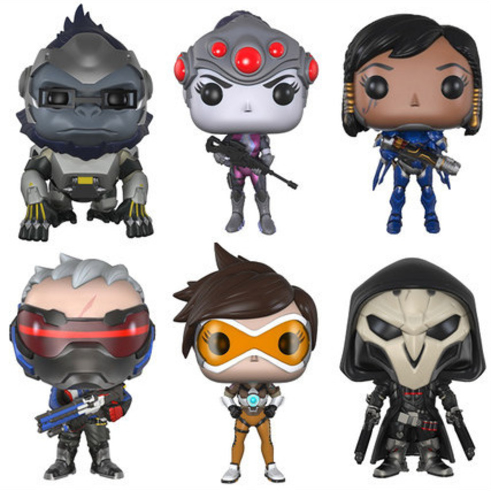 Overwatch Ow Vanguard Periphery Hunting Air Death Rank-and-file Soldiers Model Goods Furniture For Display Doll Jewerly Set