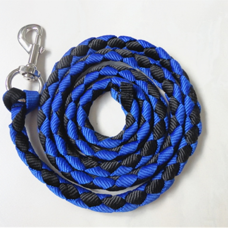 New Polyester Soft Braided Leadrope 2metres Length with Quick release Panic Hook