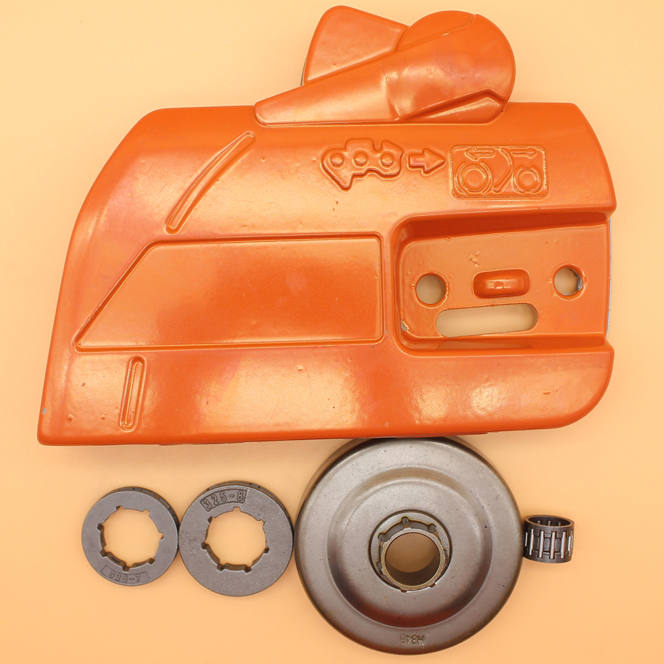 """.325"""" Sprocket Clutch Cover Clutch Drum Kit Fit HUSQVARNA 357 359 346 XP 346XP Chainsaw Spare Parts 537107801, 578097901"""