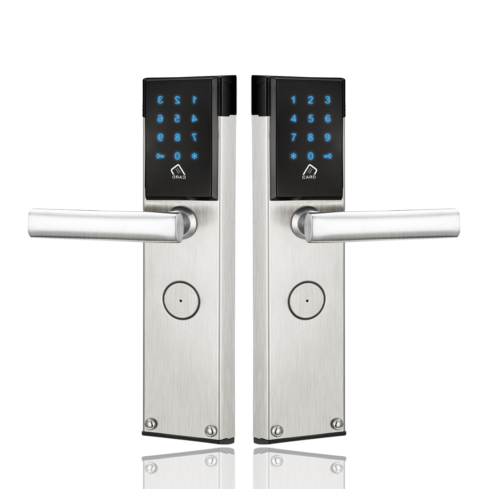 Electronic Digital Door Lock Touch Keypad Combination RFID Key Card Password Door Lock For Home Office lachco electronic card door lock digital rf card key us ansi mortise for home hotel office room l16059sg