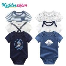 תינוק Rompers ילדה בגדי יילוד 6PCS תינוק בני בגדי כותנה סרבלי תינוקות פעוט קצר שרוול יילוד תלבושות סט 0 12M