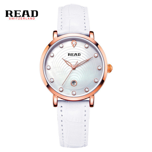READ Fashion Watch Women Dress Quartz-Watch Casual ladies wrist watch Women Relogio Feminino relojes mujer Leather Clcok R2012 relojes mujer 2017 fashion women casual geneva roman leather band analog quartz wrist watch hot sale bayan saat relogio feminino