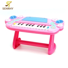 Colorful Mini Baby Infant Toddler Developmental Toy Kids Musical Piano Early Education Toy 30x14x15.5cm