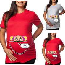 Woman Pregnant Maternity Shirt Summer Nursing Breastfeeding Tops Solid Pure colour Cloth Women Pregnancy Shirts Ropa Embarazada(China)