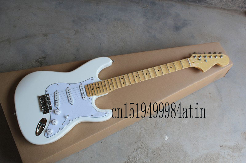 Free Shipping F ST groove refers to the plate Stratocaster Signature scalloped fingerboard big headstock White Electric Guitar