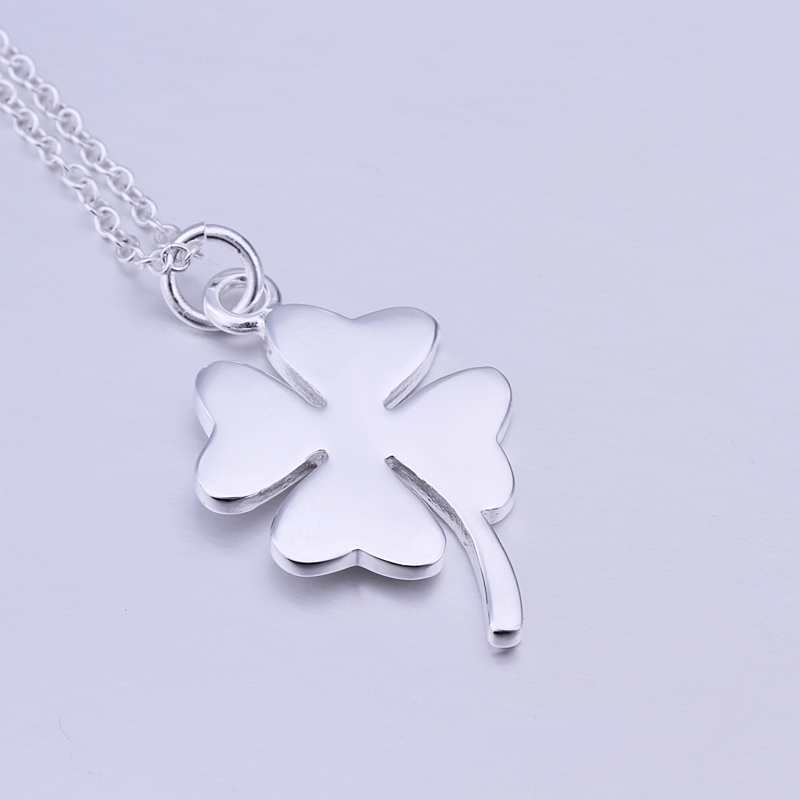 Wholesale p246 925 sterling silver four leaf clover necklace pendant wholesale p246 925 sterling silver four leaf clover necklace pendant fashion sterling silver 925 jewelry in pendant necklaces from jewelry accessories on mozeypictures Image collections