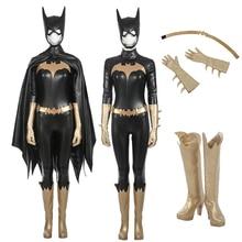 Batwoman Unisex Batgirl Cosplay Buzos Sexy con Manto traje de Superhéroe para Chrimas Disfraces de Halloween