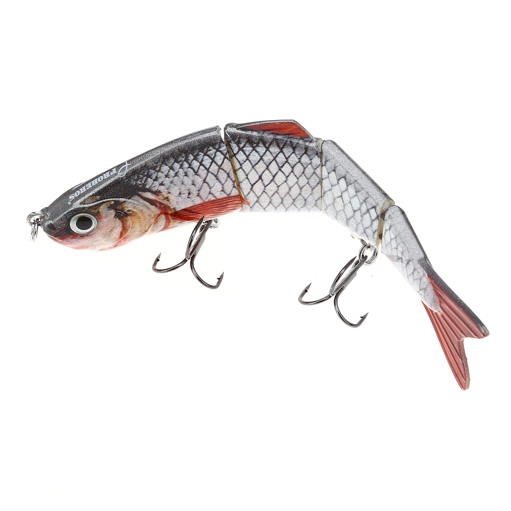 HS007 Minnow Four Sections Artificial Fishing Bait Bionic Lure with Hook Lifelike Fishing Lure Ultra Hard Sea Fishing Lake wldslure 1pc 54g minnow sea fishing crankbait bass hard bait tuna lures wobbler trolling lure treble hook