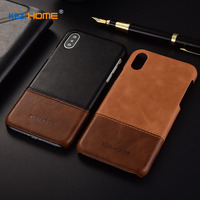 Case For IPhone X KEZiHOME Luxury Hit Color Genuine Leather Hard Back Cover Capa For IPhone