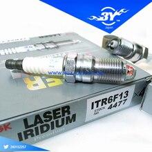 4X НОВЫЕ Подлинная Лазерная Iridium Резистор Свечи Зажигания NGK 4477 ITR6F13 4477 L3Y4-18-110 2004-2006 Для Mazda 3(China (Mainland))