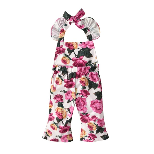 9e035d395 Newborn Infant Baby Girl Kids Sleeveless Romper Jumpsuit Cotton Clothes  Outfit Size 1-6T