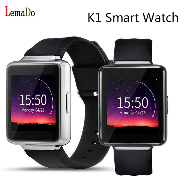 Nova lemado k1 android 5.1 os smart watch phone mtk6580 quad core 512 mb + 8 gb wifi suporte gps 3g nano sim google play smartwatch