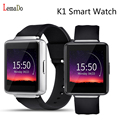 Nueva lemado k1 android 5.1 os teléfono smart watch mtk6580 quad core 512 mb + 8 gb wifi de la ayuda del gps 3g google play nano sim smartwatch